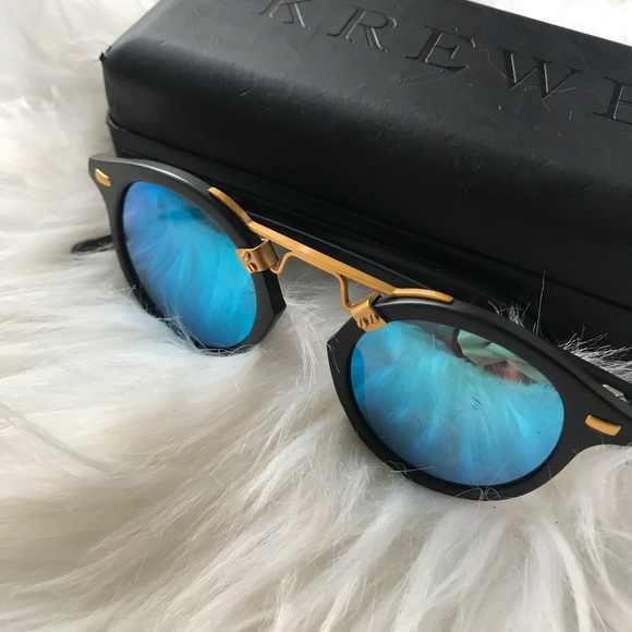 60e812a75a krewe du optic Accessories - KREWE du optic St Louis matte black 24k  sunglasses